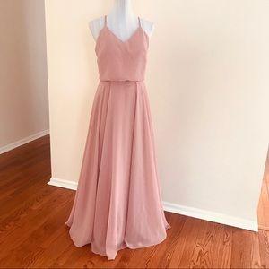 LanTing Spaghetti Strap Chiffon Bridesmaid Dress 6